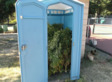 Man Stumbles Across Portable Toilet Filled With Pot