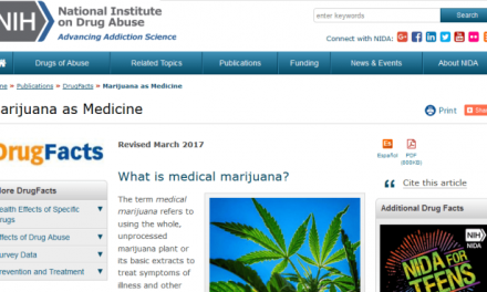 "National Institute on Drug Abuse Updates Website, Now has ""Marijuana as Medicine"" Page"