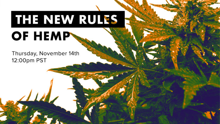 Free Webinar on USDA Interim Hemp Rules Tomorrow!